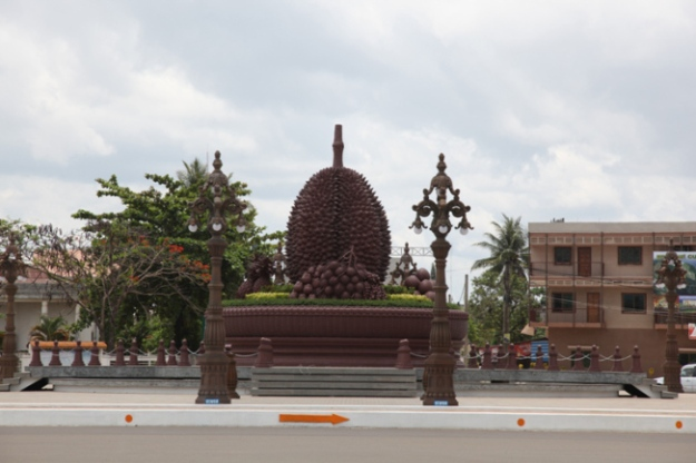 Giant Durian Sculpture in  the centre of downtown ( Source image wikipedia.org)