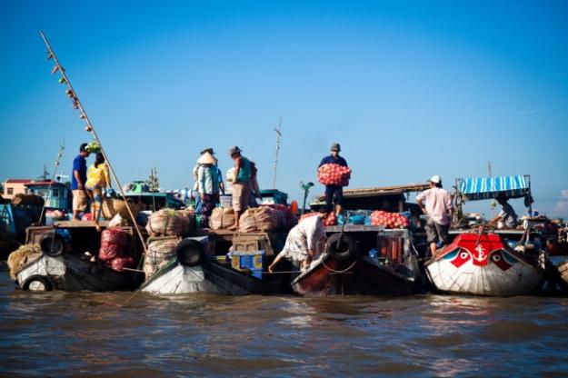 Marché flottant de Cai Rang - Delta du Mékong