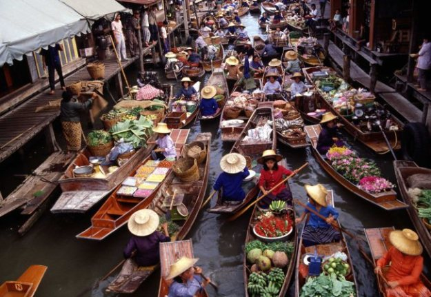 Marché flottant, Thaïlande