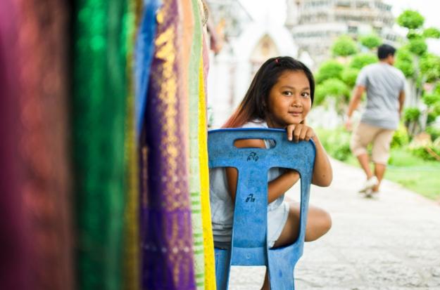 Petite fille thailande