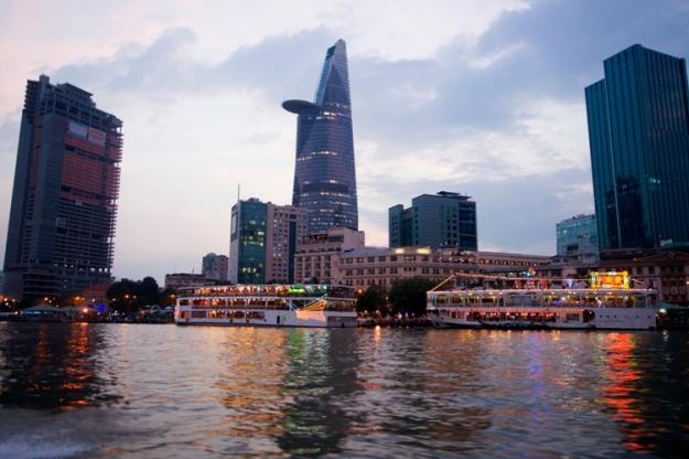 Vue d'Hô Chi Minh City