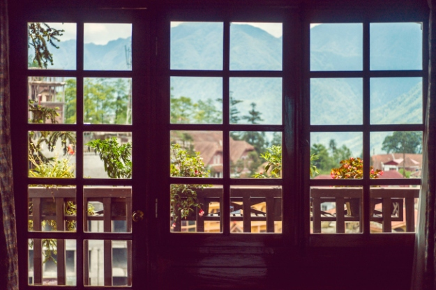 Vue de l'hôtel Victoria à Sapa, Vietnam